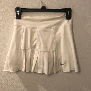 Nike dry fit white skirt